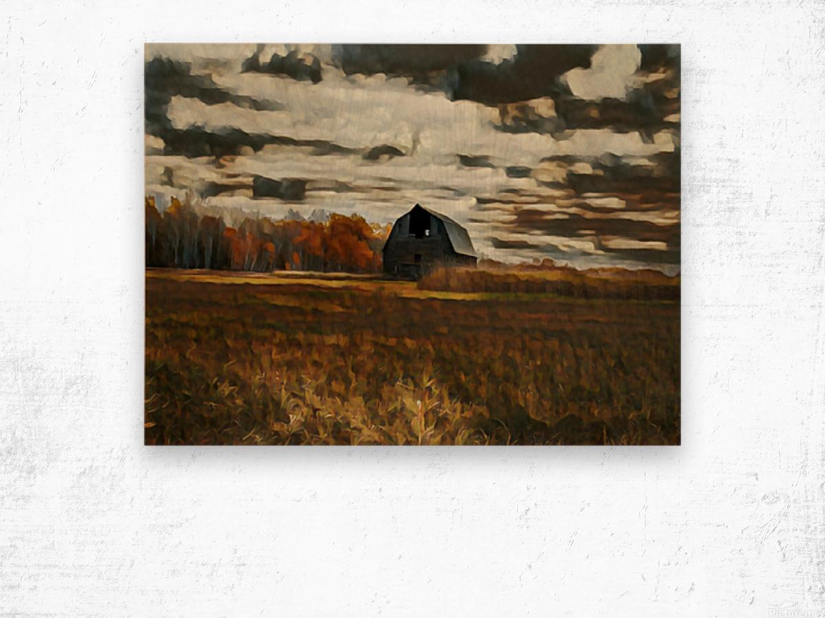 barn um Wood print