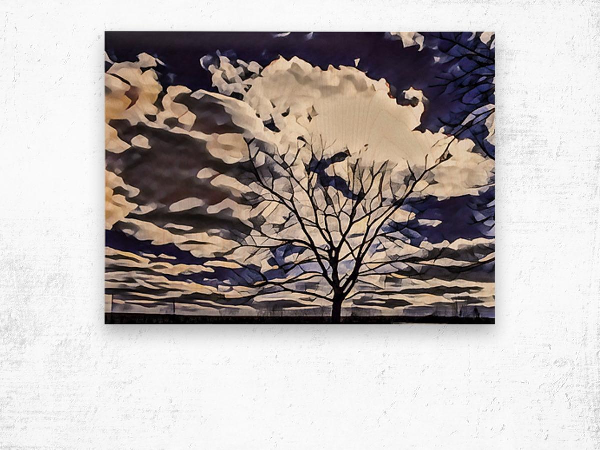 regal tree Wood print