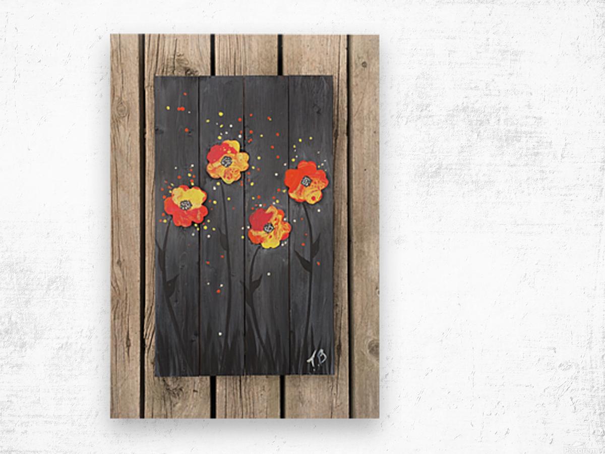 Pop up Daisies Wood print