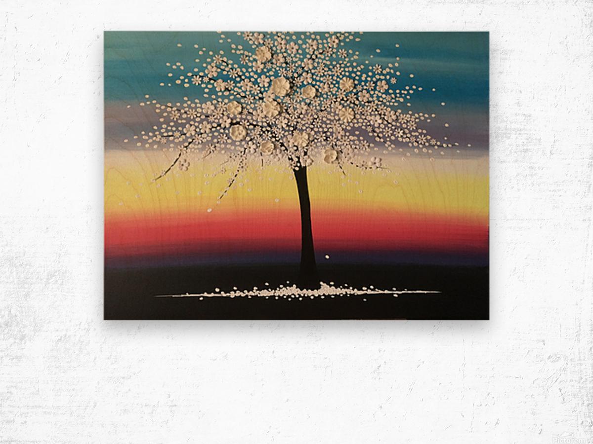Colorful Blooms Wood print