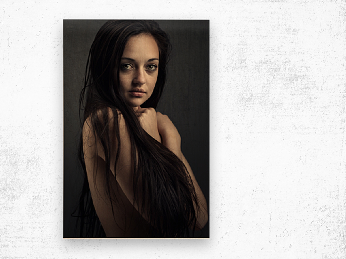 Innocent young woman Wood print