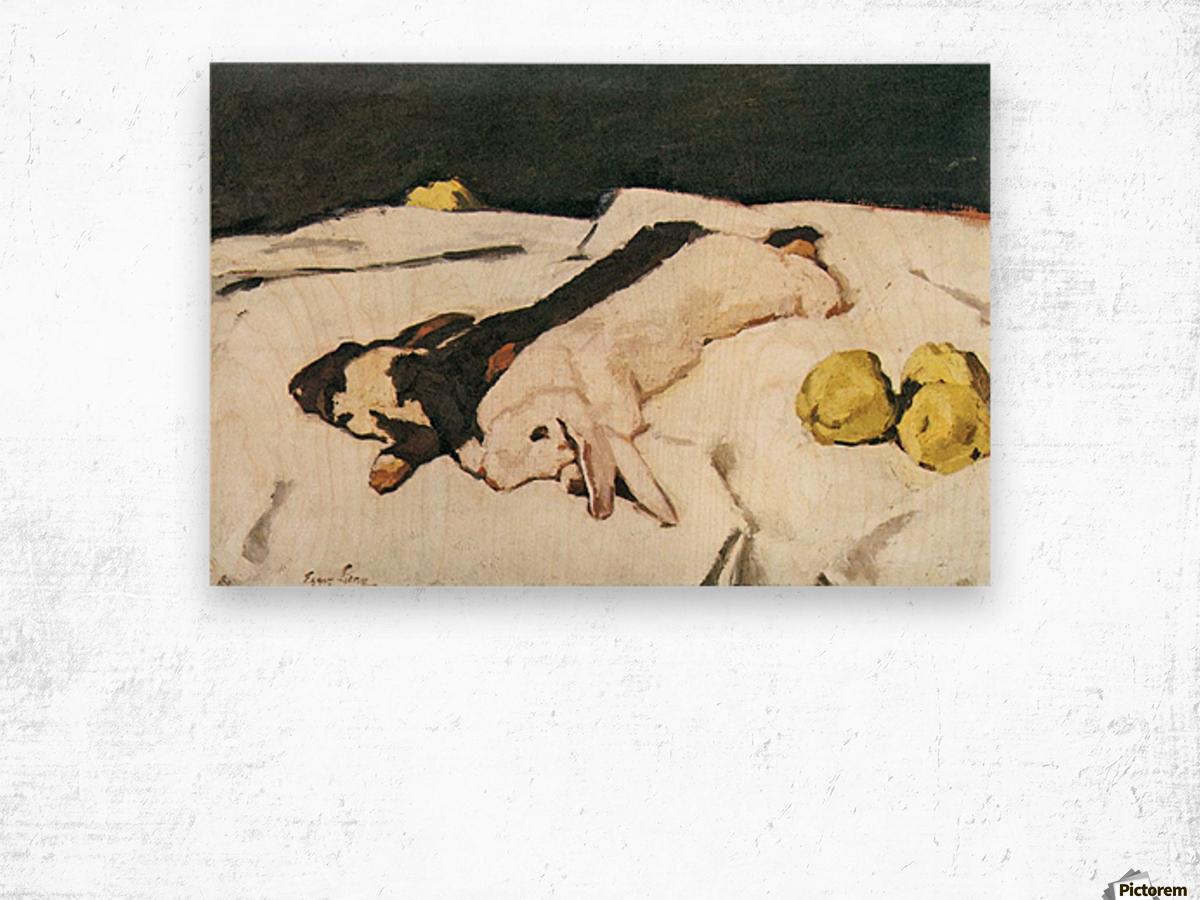 Dead hares by Albin Egger-Lienz Wood print