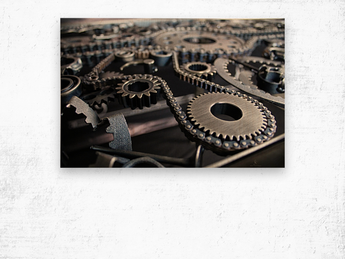 Cam chain Wood print