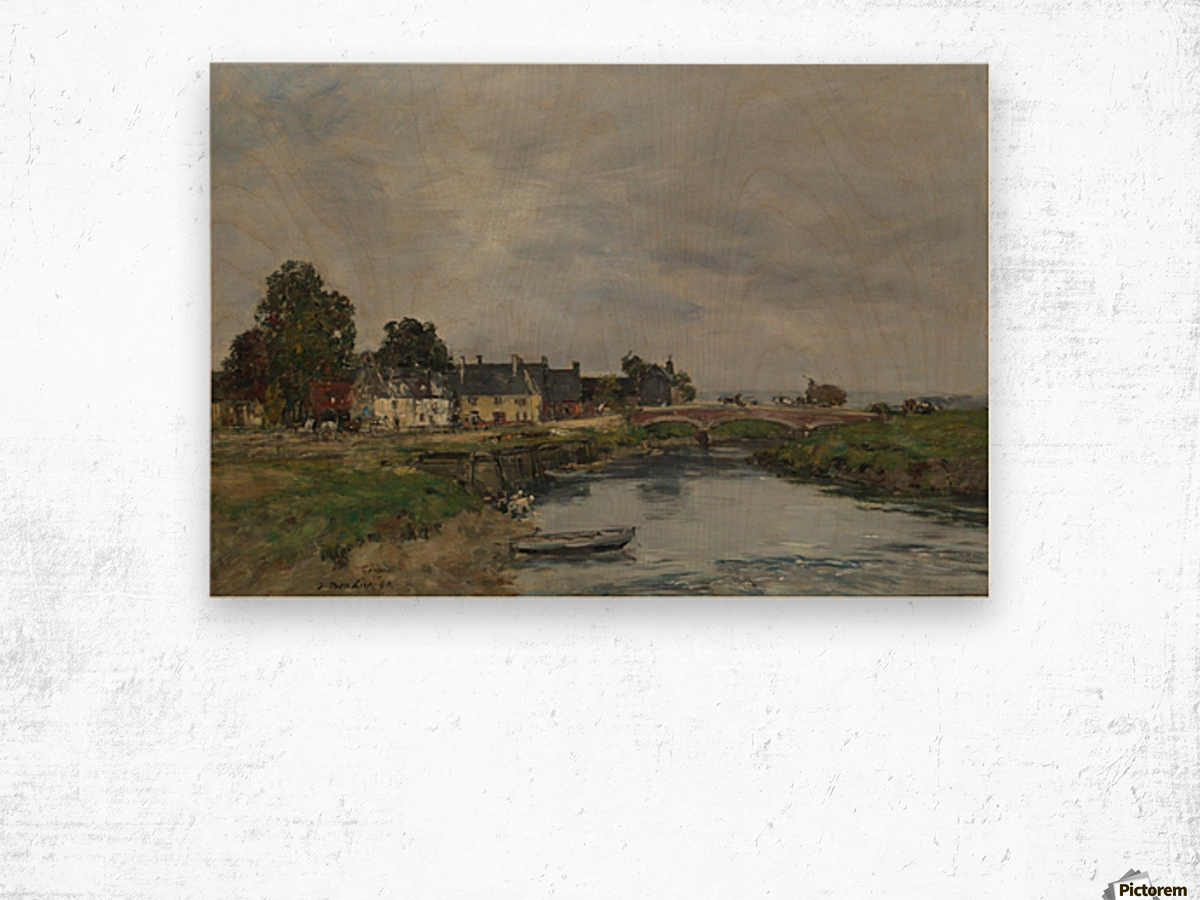 Trouville, View of Port's Landing Stage Wood print