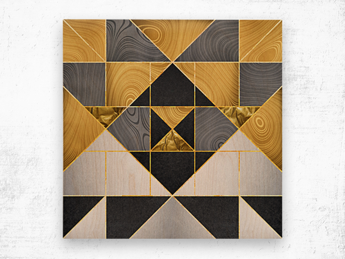 Geometric XXIV Wood print