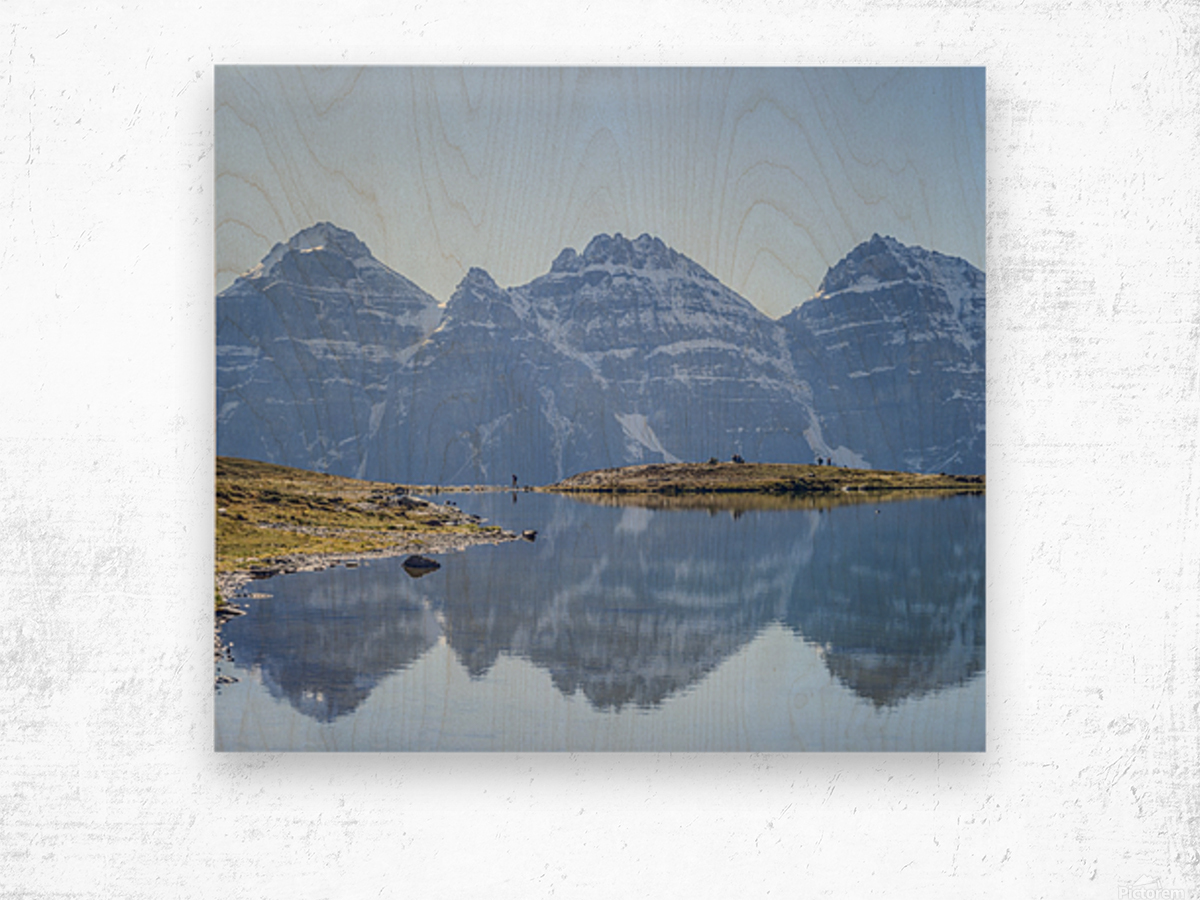 Mountain diaries Wood print
