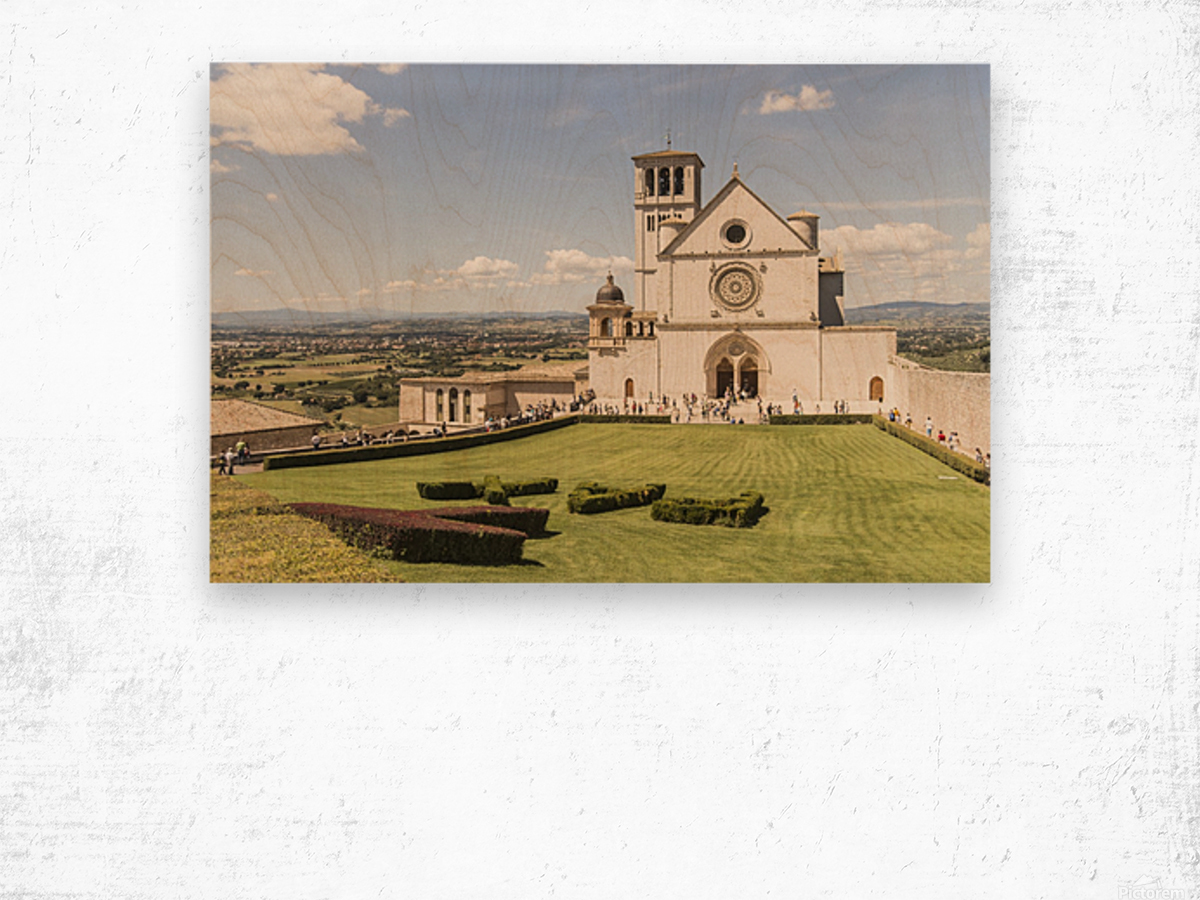 Assisi church Wood print