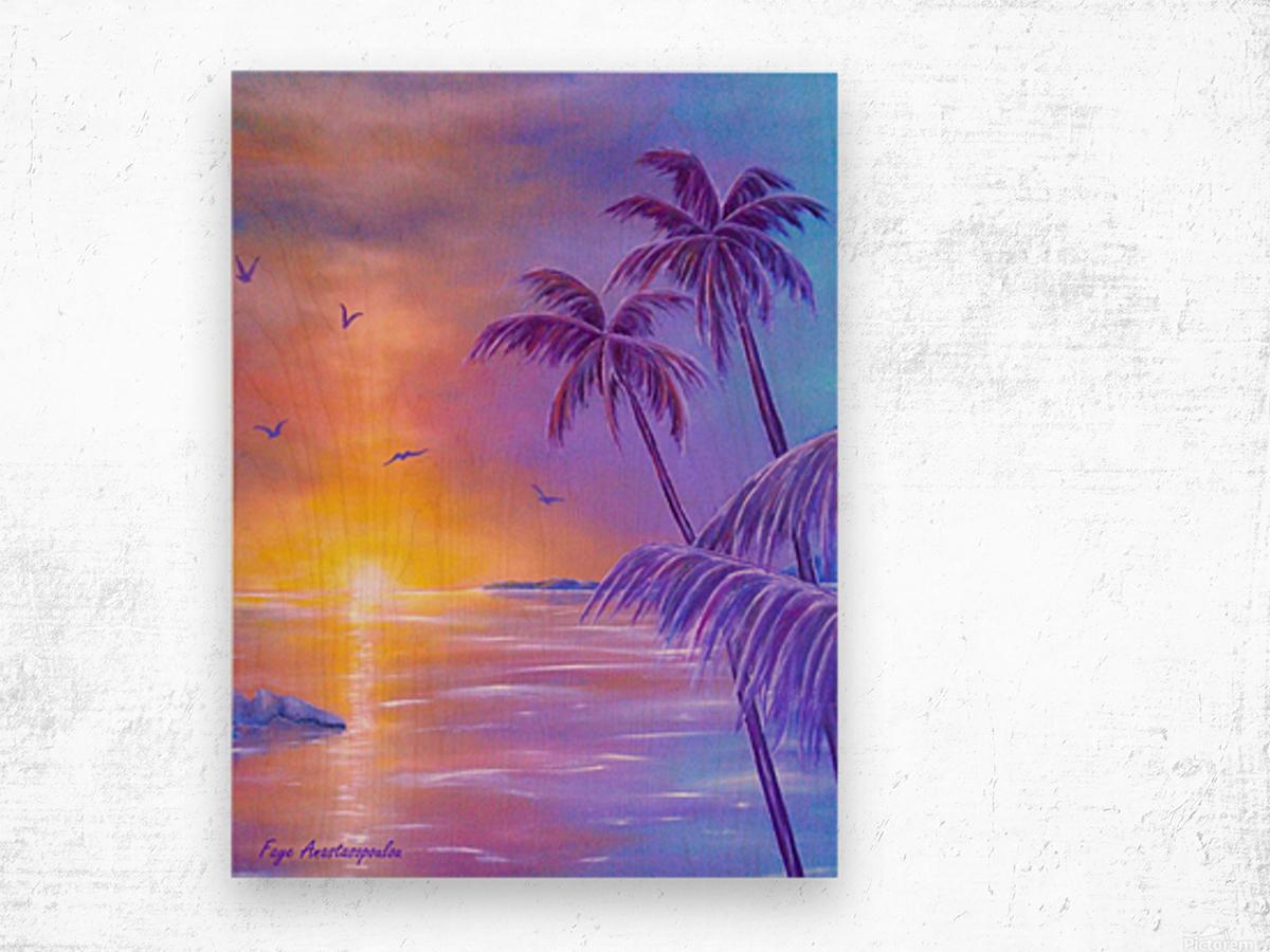 Tropical Breeze Wood print