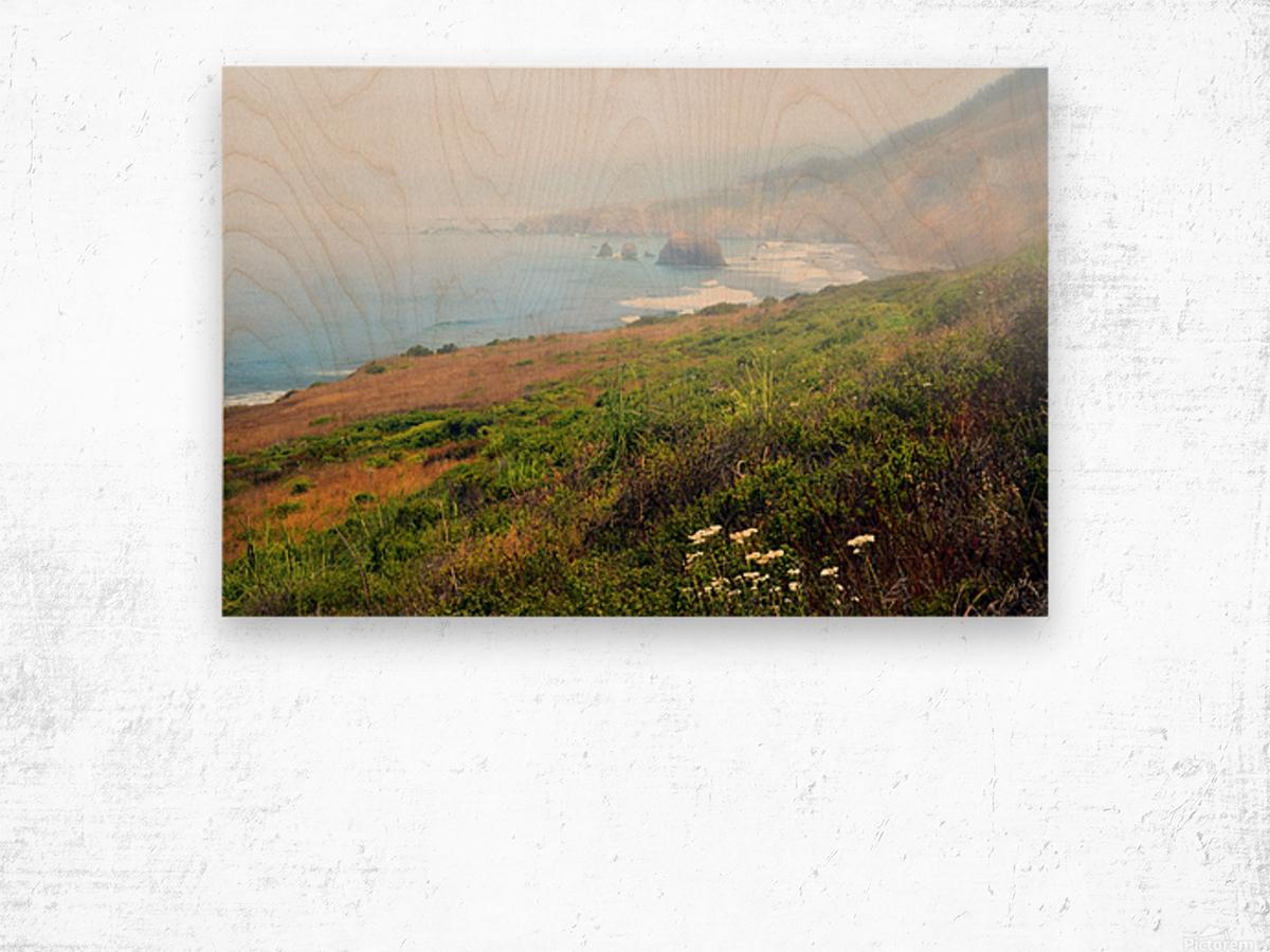Coastal Views Fog Wood print