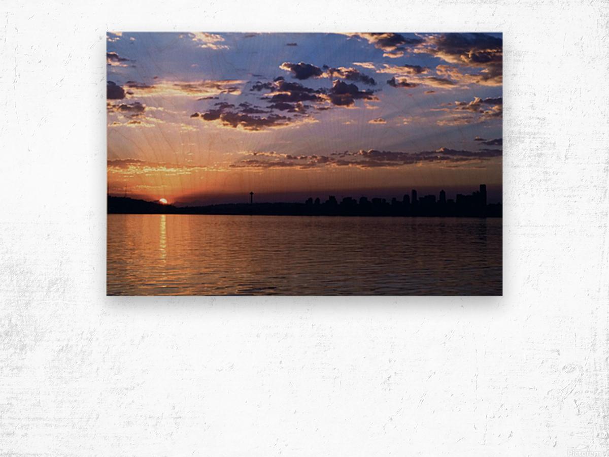 Puget Sound Sunrise Wood print