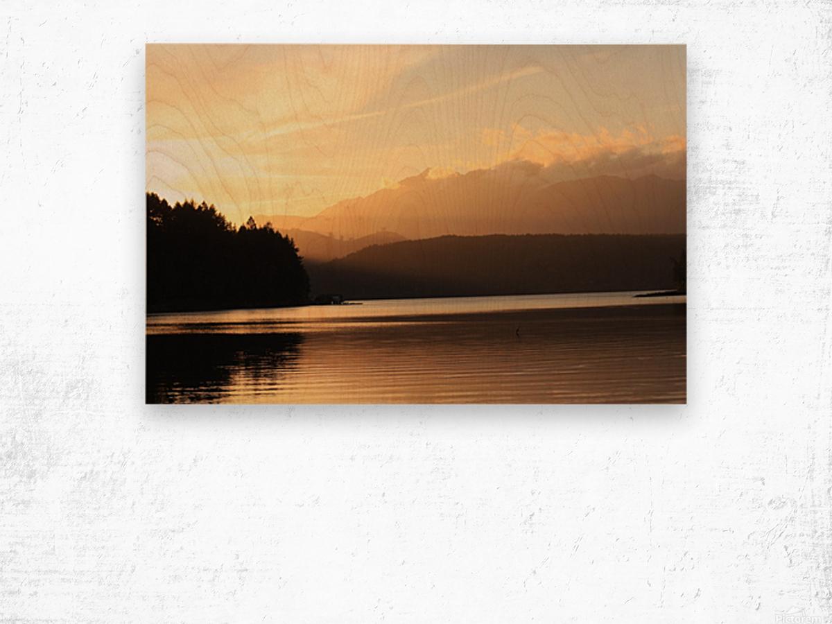 Dewatto glow Wood print
