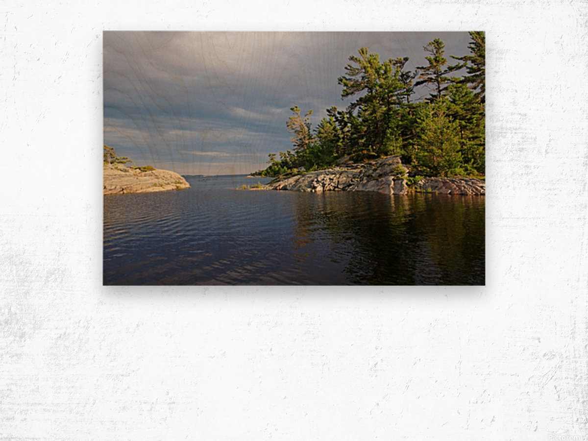 Between Rocky Outcrops To Georgian Bay Wood print