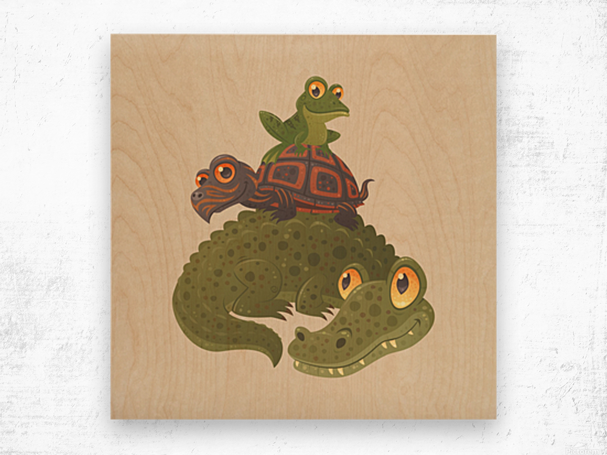 Swamp Squad Wood print