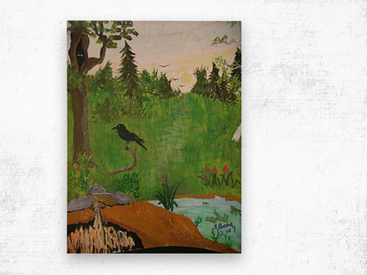 Purgatory  Wood print