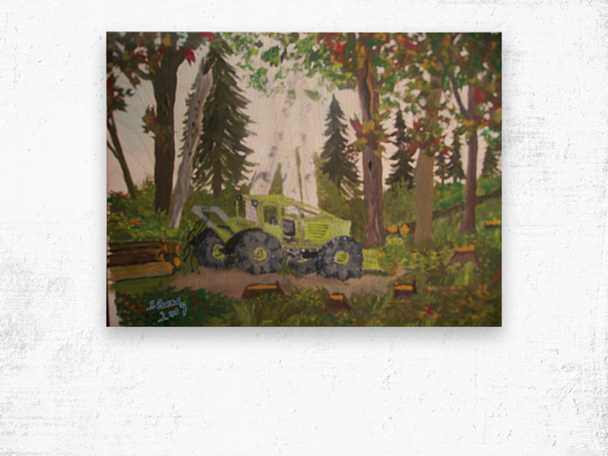 Logging in Maine Woods Wood print