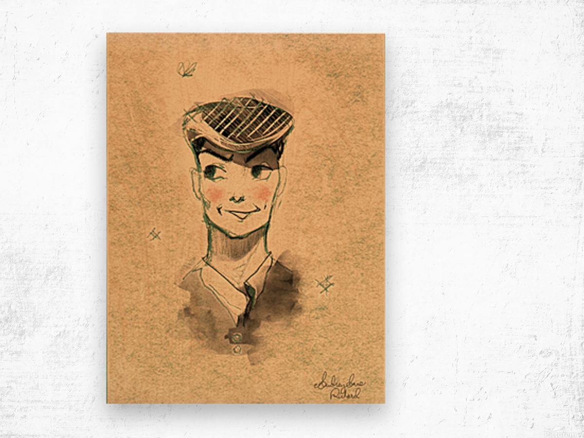 Monsieur Wood print