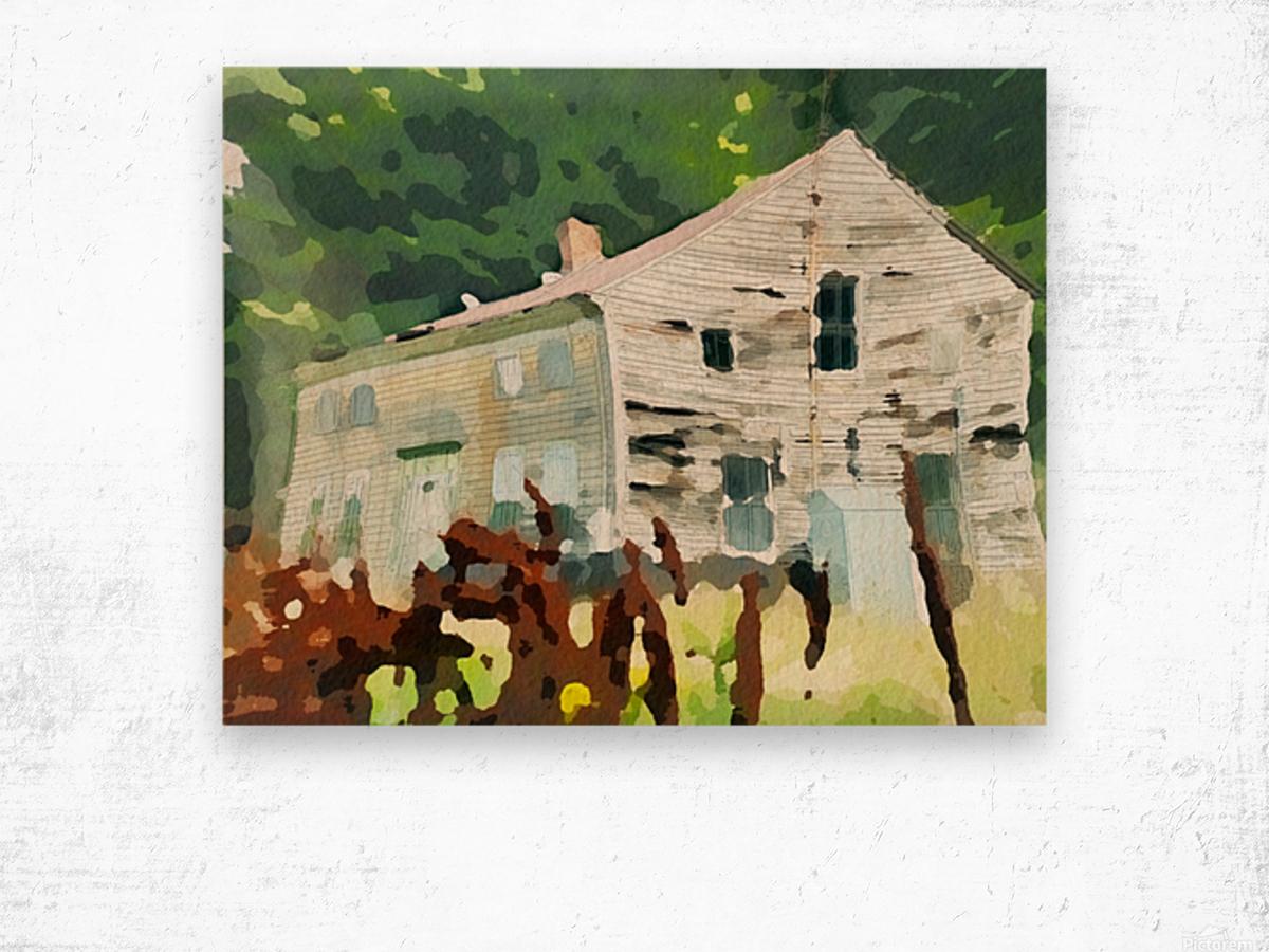Cummington Old House Wood print