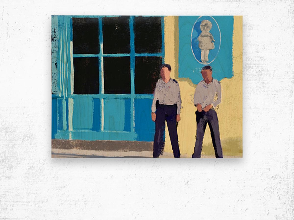Cuba Guards Wood print