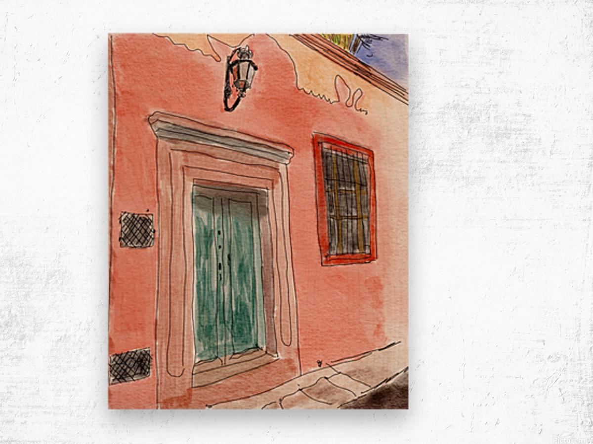 Mexico San Miguel de Allende Door 1 Wood print