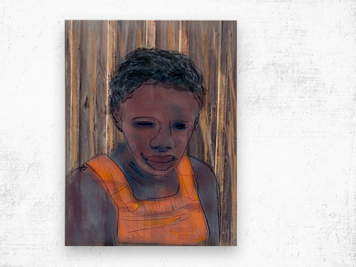 Whitney Plantation Slave Girl 2 Wood print