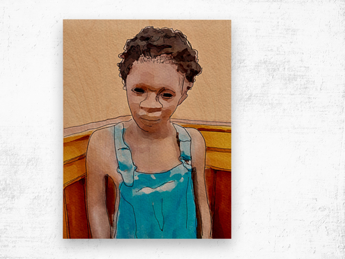 Whitney Plantation Slave Boy 1 Wood print