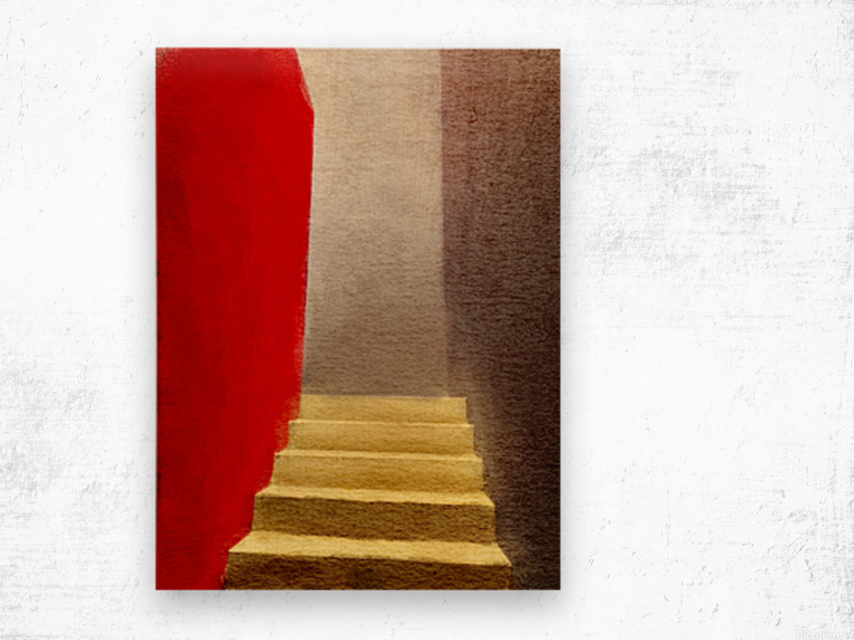 Mexico Oaxaca Stairway Wood print