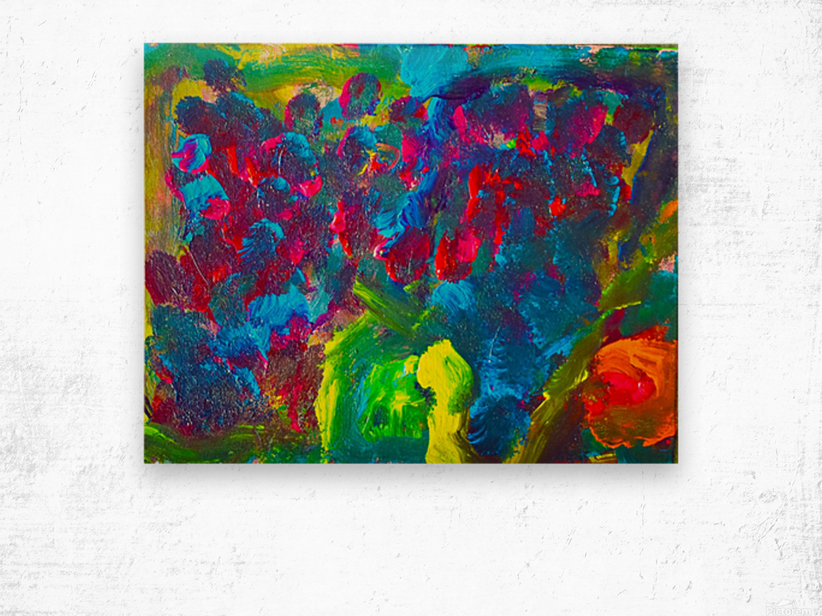 Abstract Flowers. Marielle A Wood print