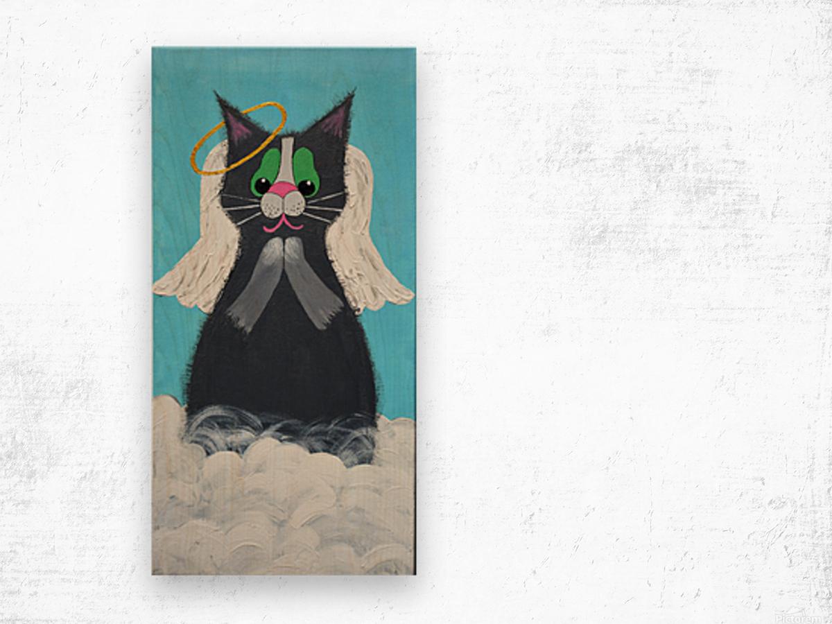 Angel Cat. Heather S. Wood print