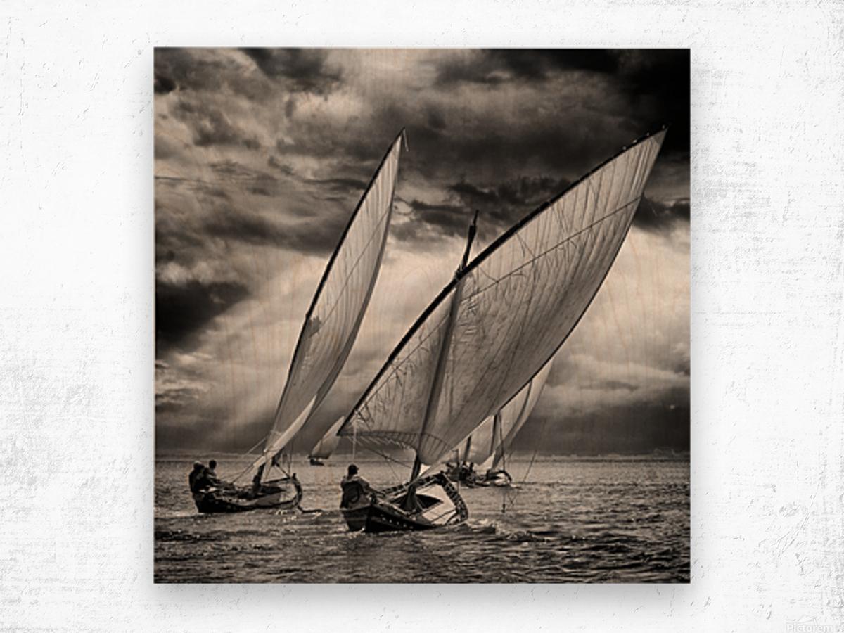 Sailboats and Light Wood print