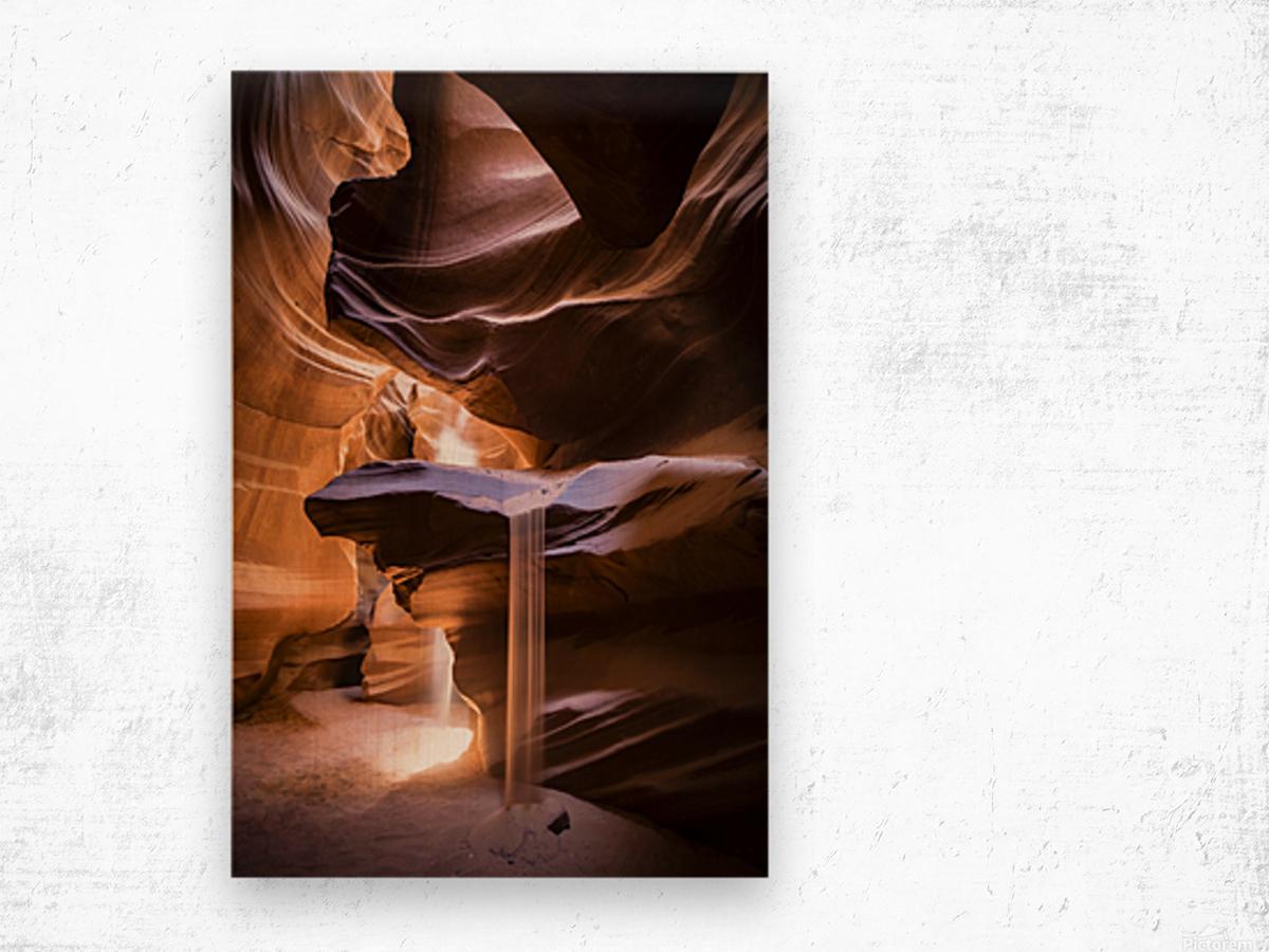 Sand Fall Wood print