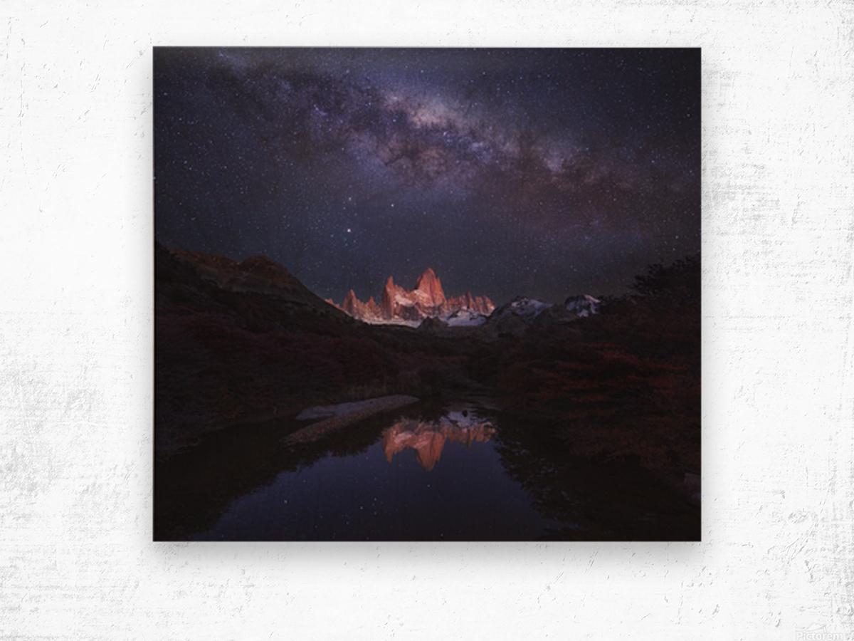 Patagonia Autumn Night Wood print