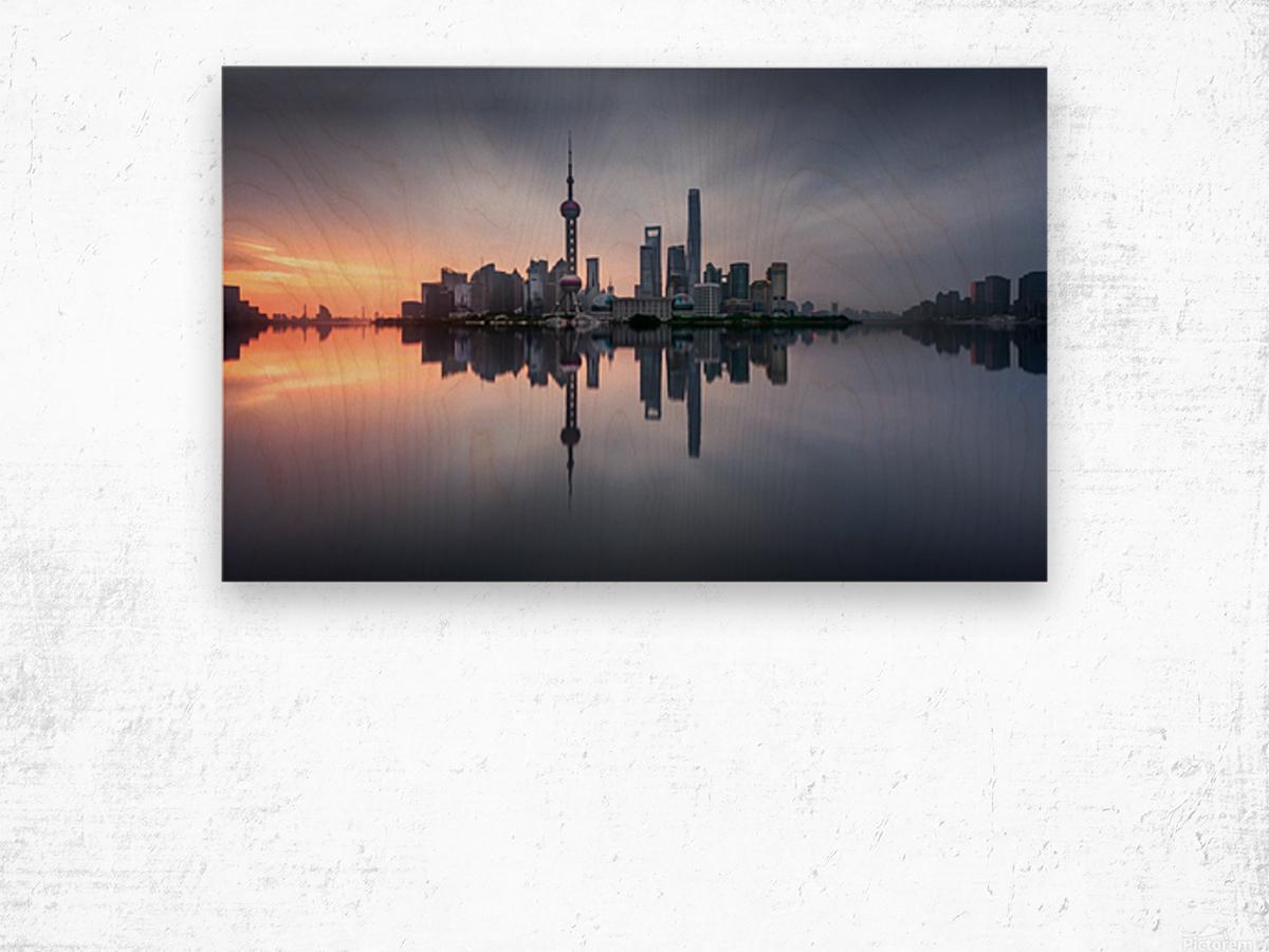 Good Morning Shanghai Wood print