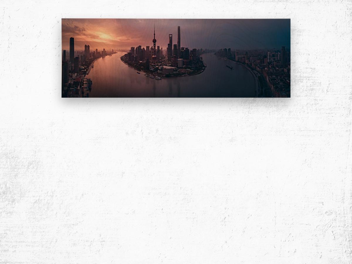 Flying Shanghai Wood print