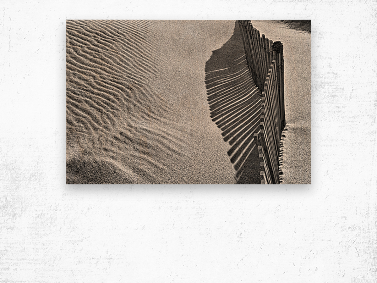 Castles in the Sand Wood print