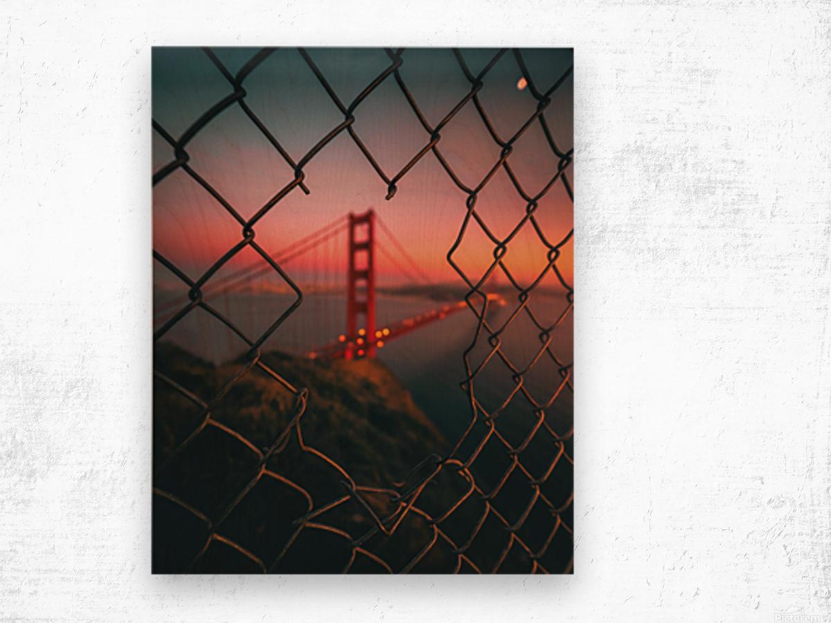Golden Gate Caged Impression sur bois