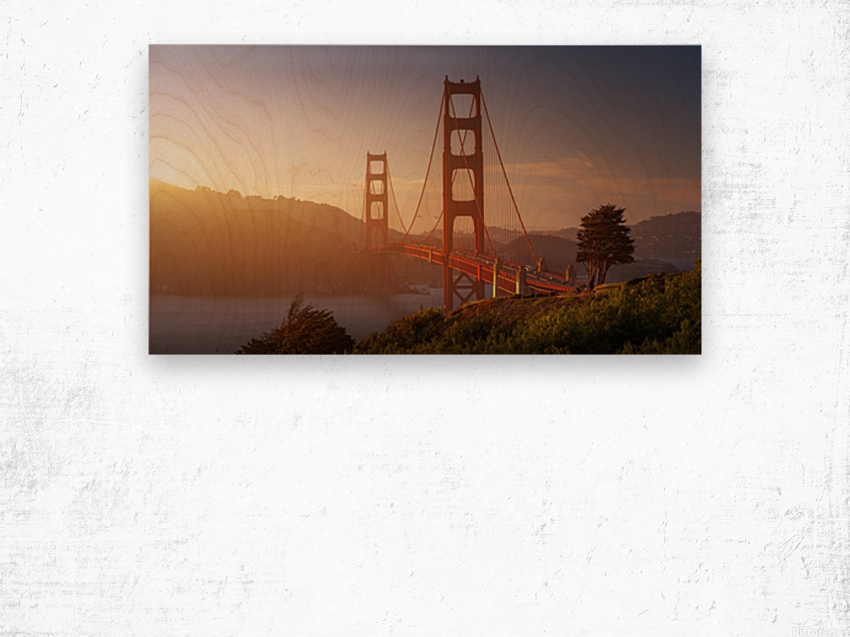 South Golden Gate. Wood print