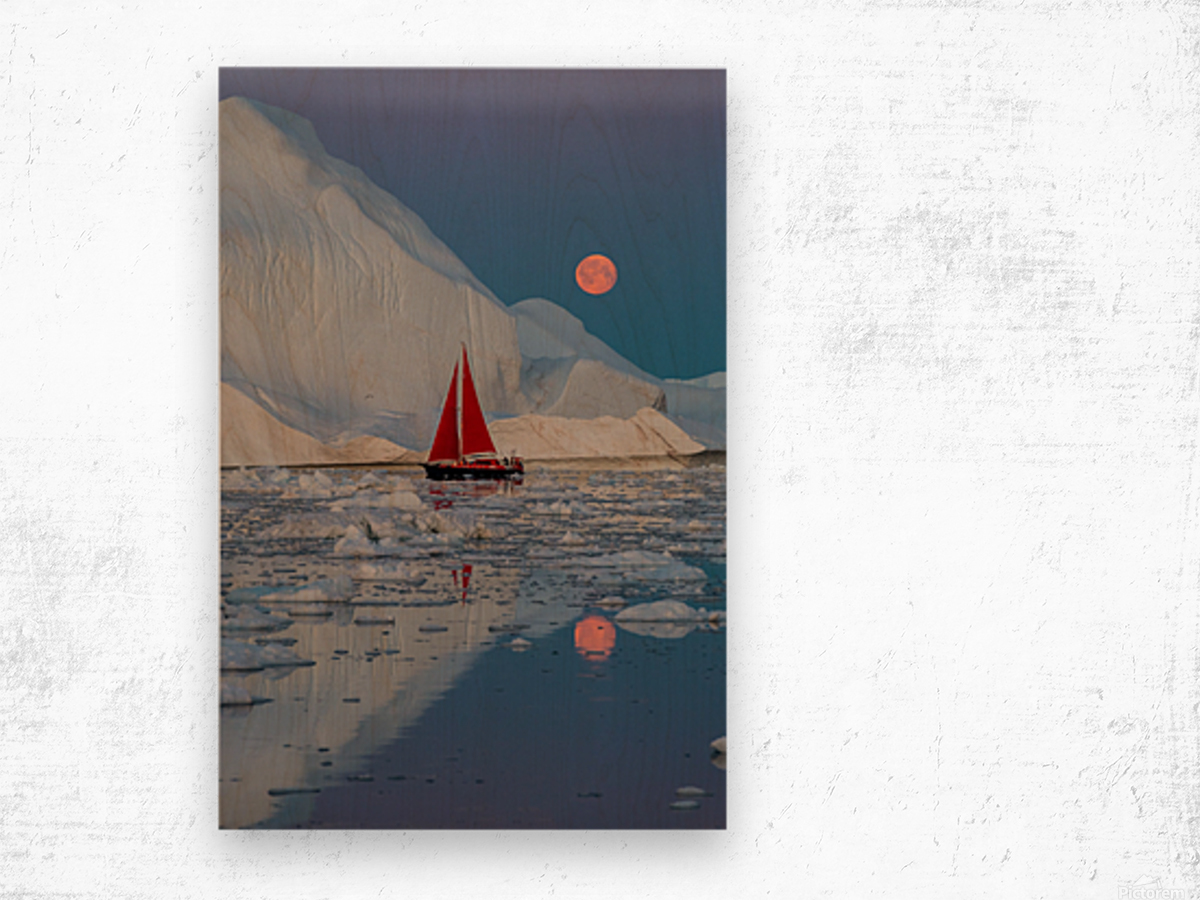 Greenland night Wood print