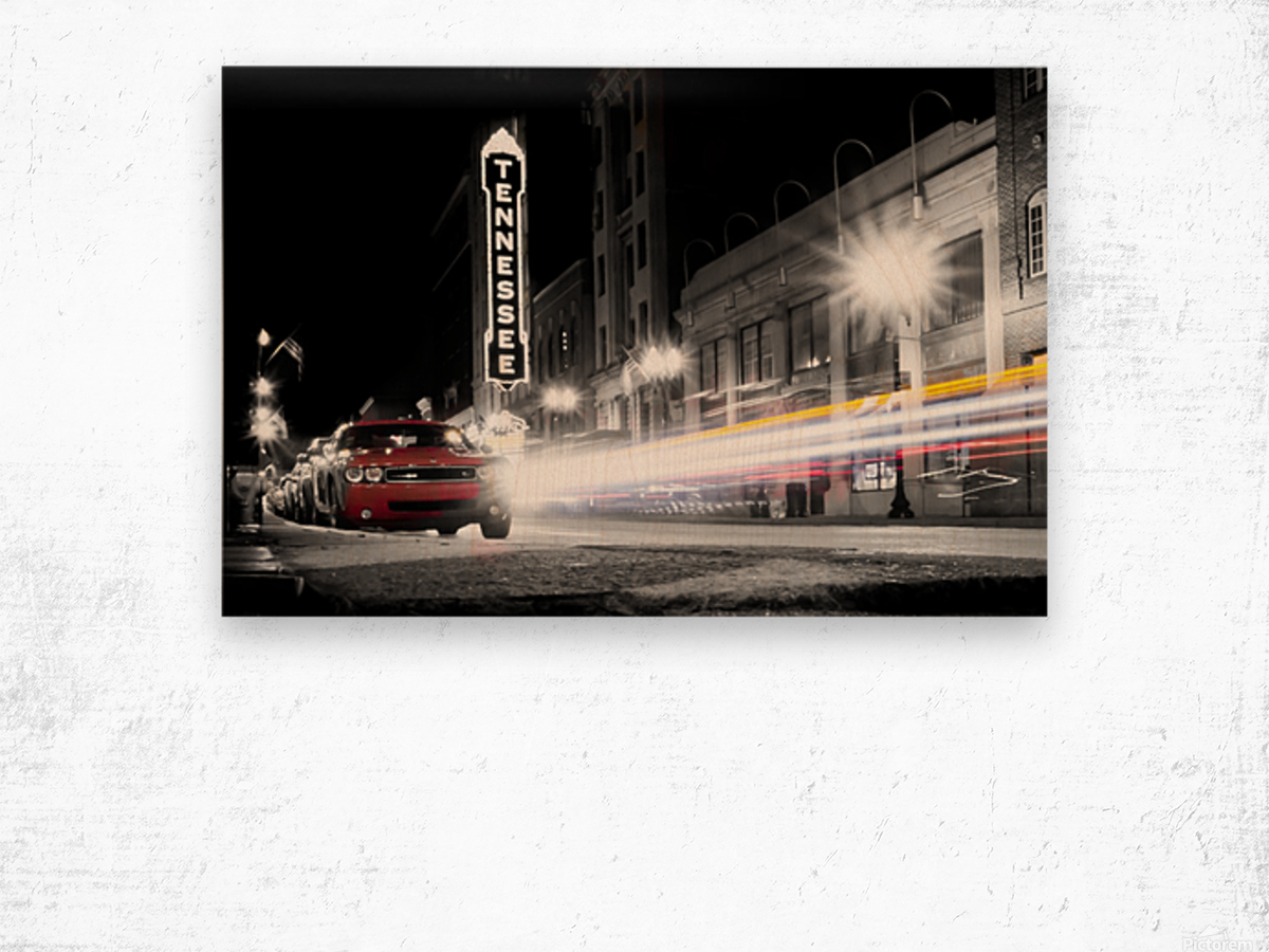 Tennessee Theater Monochrome Wood print