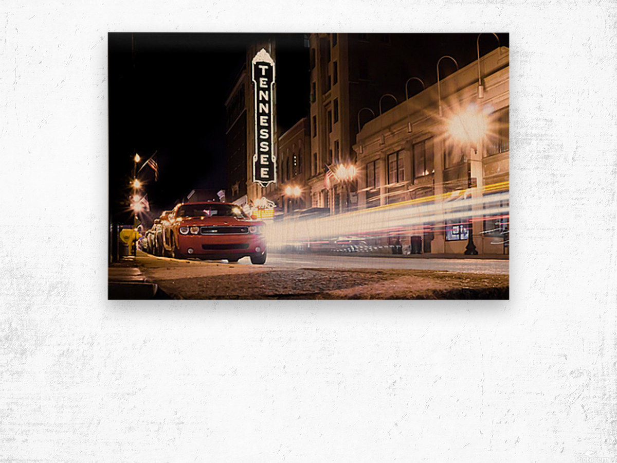 Tennessee Theater Color Wood print