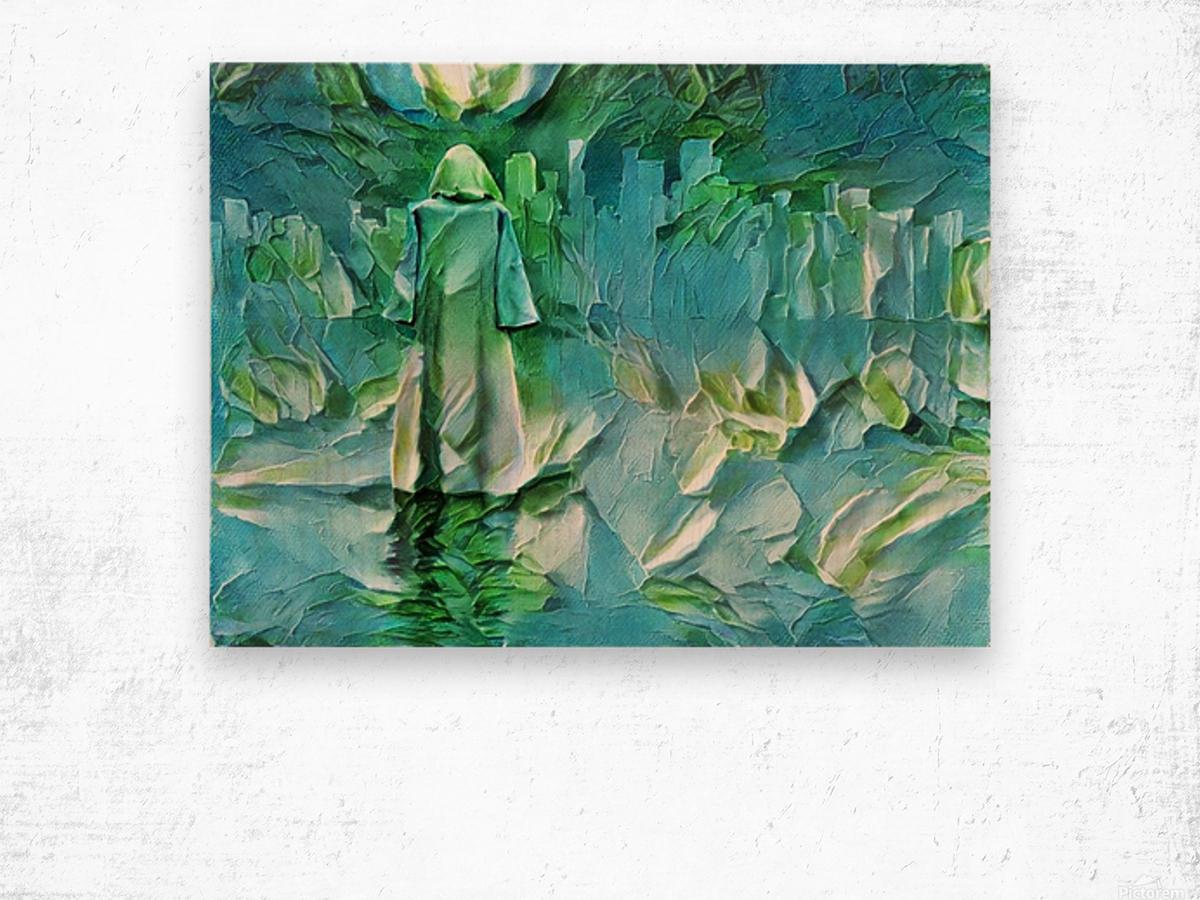 Pilgrim Wood print