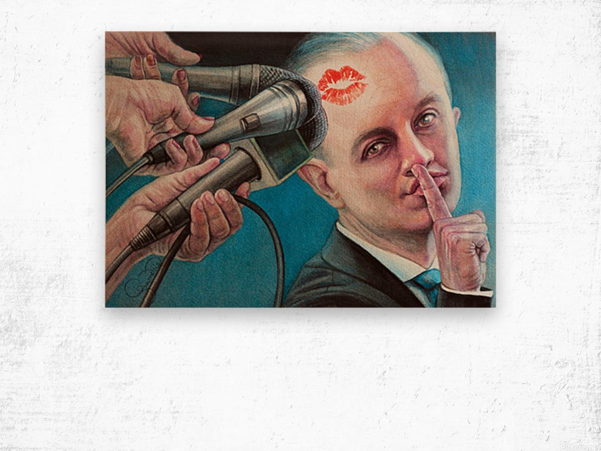 Secret Kiss By Krzysztof Grzondziel Wood print