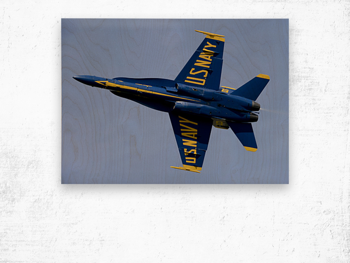 U.S. Navy flight demonstration squadron the Blue Angels. Wood print
