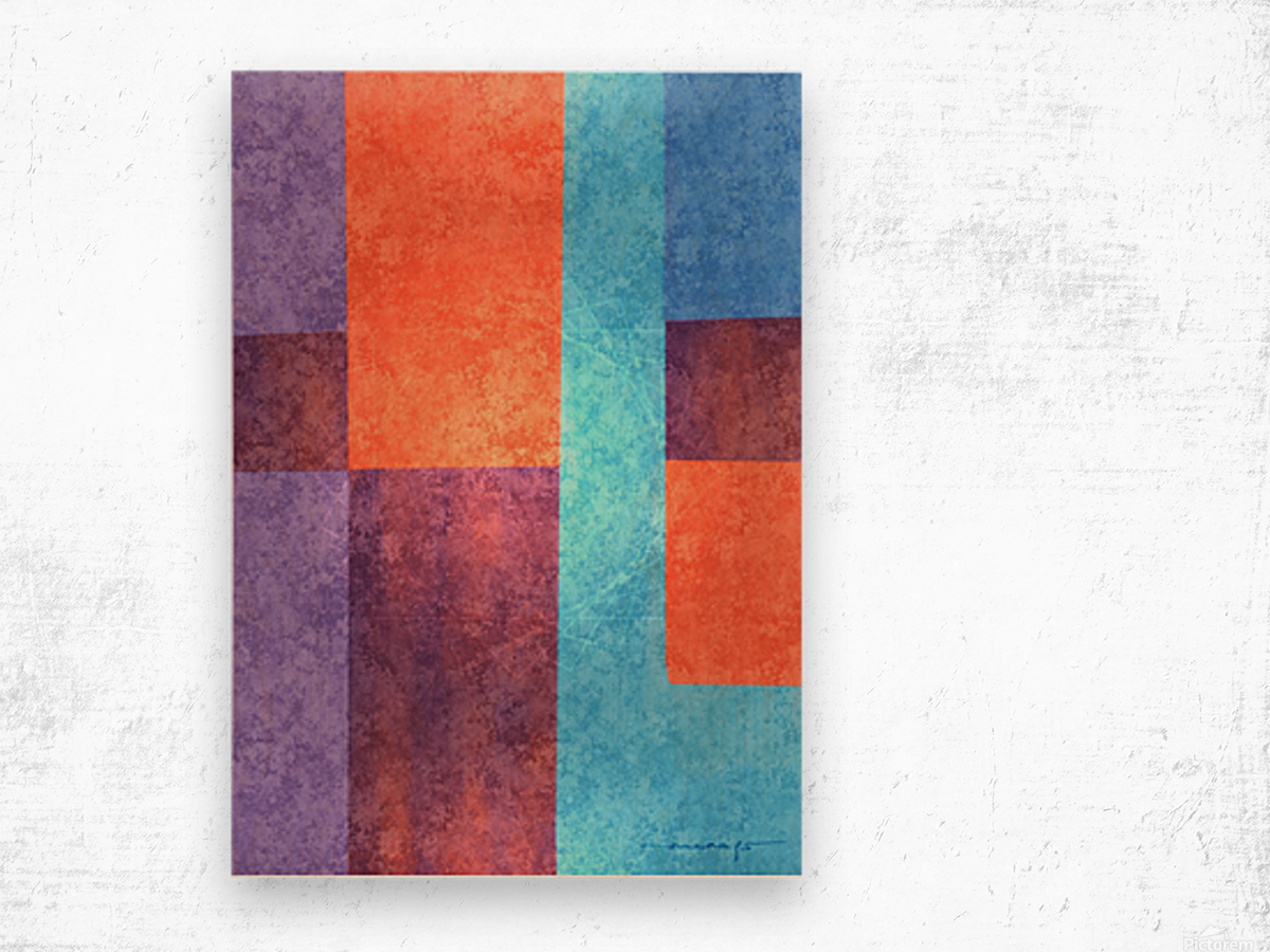 Abstract Geometric Space 3 Wood print