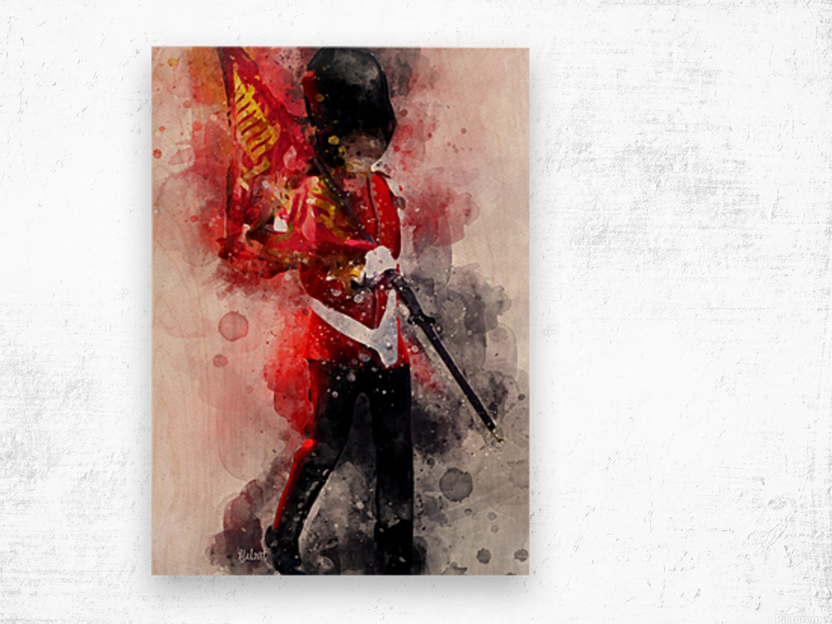 The Queens Guard Wood print