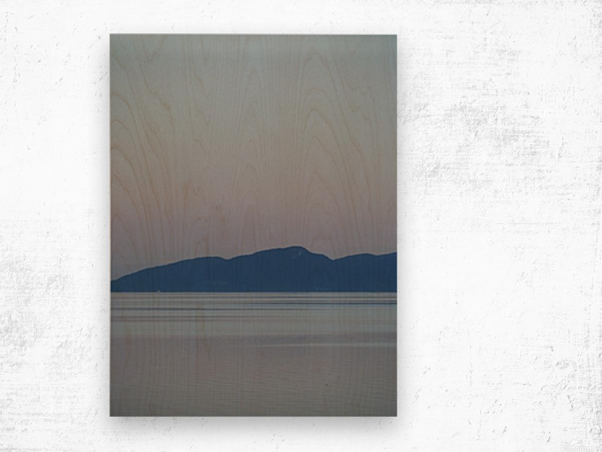 Evening at Transfer Beach Wood print
