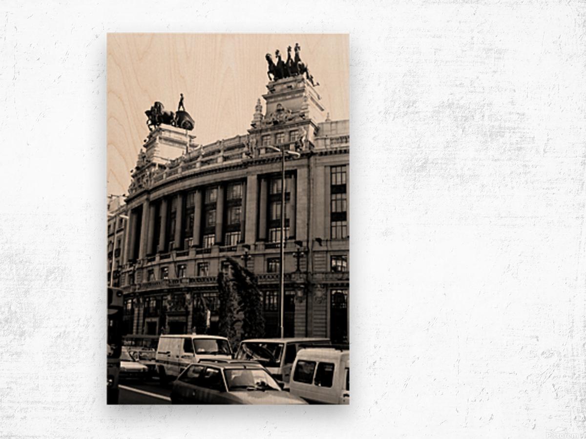 Calle de Alcalá  Madrid Wood print