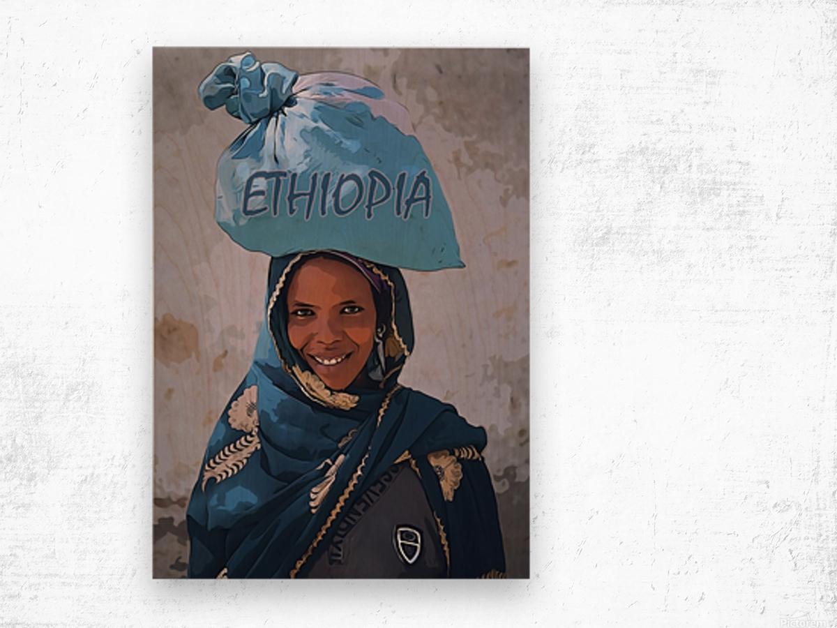 Ethiopian women Wood print