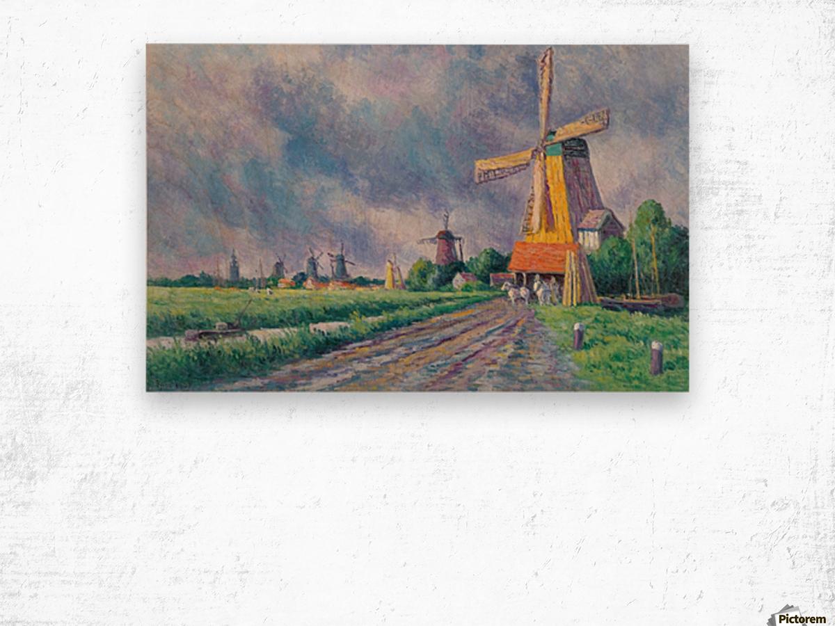 Outskirts of Rotterdam Wood print