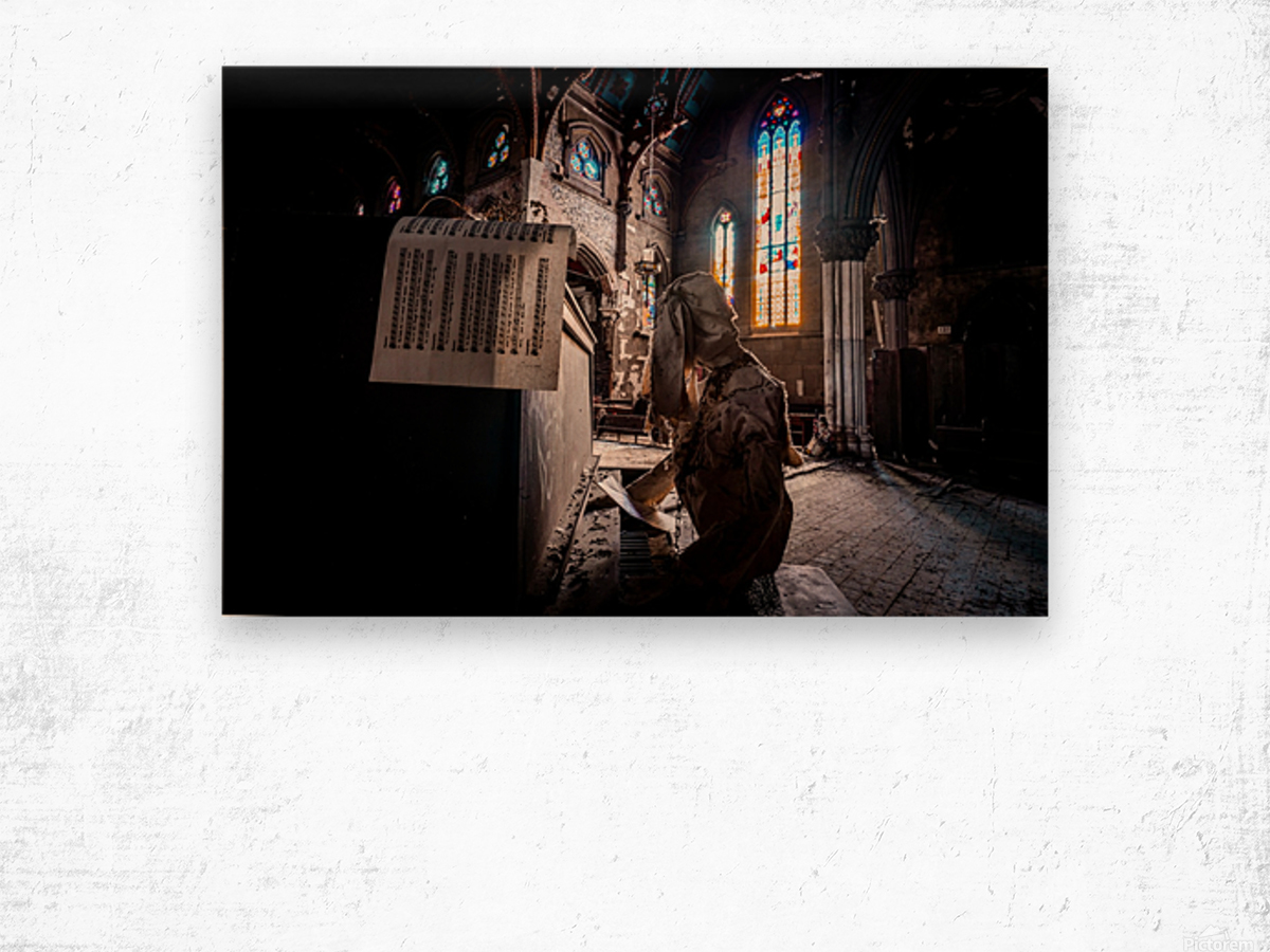 Abandoned Gothic Cathedral Wood print