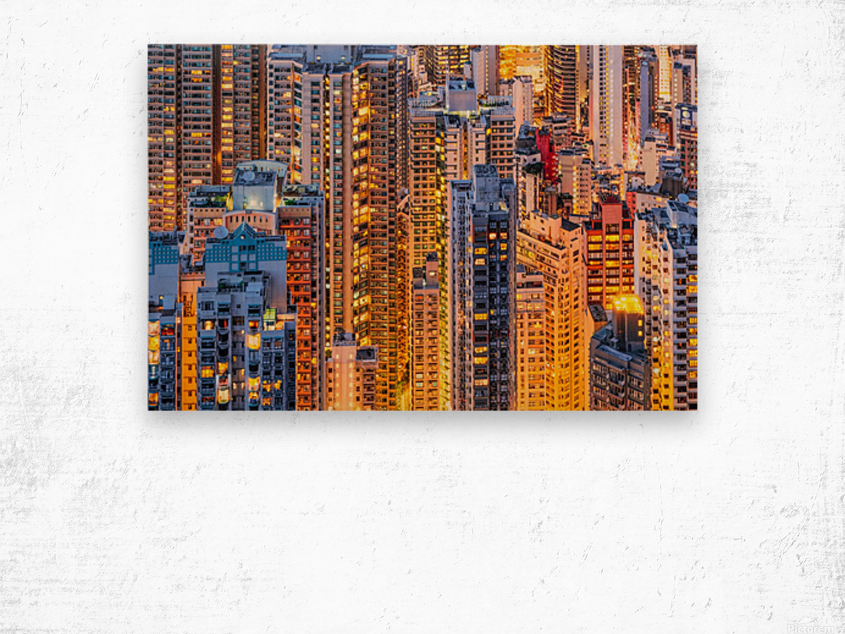 HONG KONG 34 Wood print